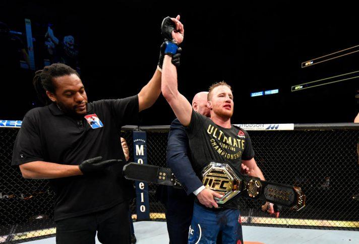 UFC 249:トニー・ファーガソン vs. ジャスティン・ゲイジー【アメリカ・フロリダ州ジャクソンビル/2020年5月9日(Photo by Jeff Bottari/Zuffa LLC)】