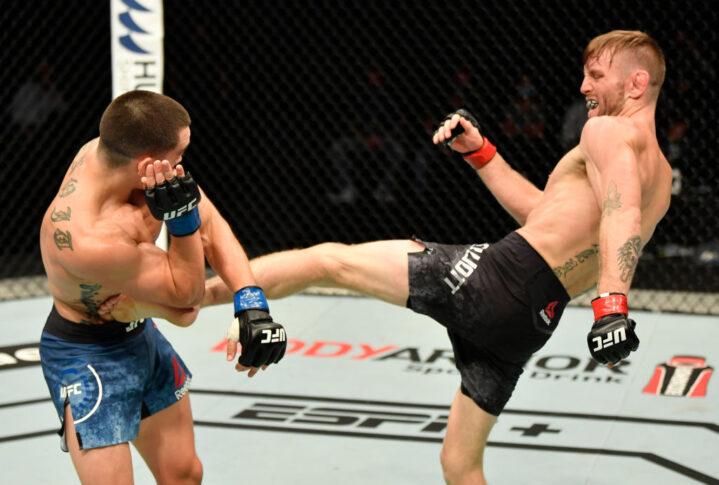UFCファイトナイト・ファイトアイランド1:ティム・エリオット vs. ライアン・ブノワ【アラブ首長国連邦・アブダビ/2020年7月16日(Photo by Jeff Bottari/Zuffa LLC via Getty Images)】