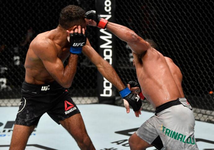 UFCファイトナイト・ファイトアイランド3:フランシスコ・トリナウド vs. ジャイ・ハーバート【アラブ首長国連邦・アブダビ/2020年7月26日(Photo by Jeff Bottari/Zuffa LLC via Getty Images)】