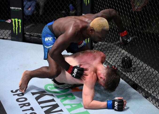 UFCファイトナイト・ラスベガス5:デレク・ブランソン vs. エドメン・シャバージアン【アメリカ・ネバダ州ラスベガス/2020年8月1日(Photo by Chris Unger/Zuffa LLC via Getty Images)】
