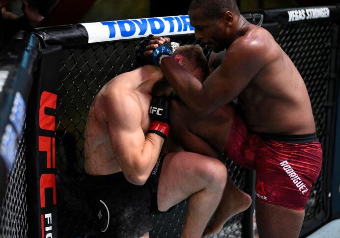 UFCファイトナイト・ラスベガス7:マルチン・プラフニオ vs. マイク・ロドリゲス【アメリカ・ネバダ州ラスベガス/2020年8月22日(Photo by Chris Unger/Zuffa LLC)】