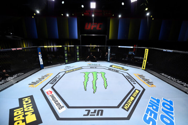 UFCファイトナイト・ラスベガス8:オクタゴン【アメリカ・ネバダ州ラスベガス/2020年8月29日(Photo by Jeff Bottari/Zuffa LLC)】