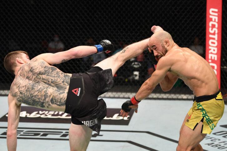 UFCファイトナイト・ファイトアイランド5:マルロン・モラエス vs. コーリー・サンドヘイゲン【アラブ首長国連邦・アブダビ/2020年10月11日(Photo by Josh Hedges/Zuffa LLC)】