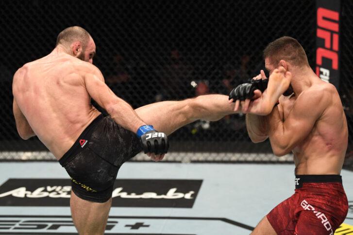 UFCファイトナイト・ファイトアイランド6:マテウス・ガムロット vs. グラム・クタテラーゼ【アラブ首長国連邦・アブダビ/2020年10月18日(Photo by Josh Hedges/Zuffa LLC via Getty Images)】