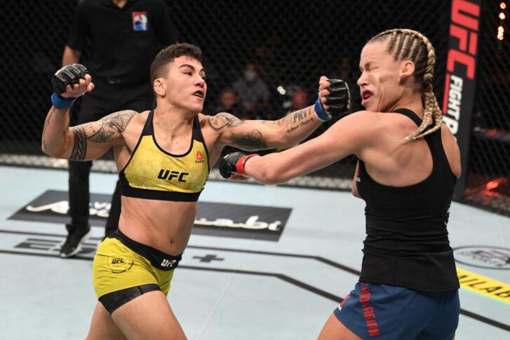 UFCファイトナイト・ファイトアイランド6:ケイトリン・チョケイジアン vs. ジェシカ・アンドラージ【アラブ首長国連邦・アブダビ/2020年10月18日(Photo by Josh Hedges/Zuffa LLC via Getty Images)】