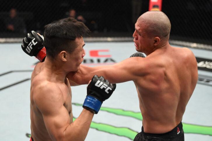 UFCファイトナイト・ファイトアイランド6:ブライアン・オルテガ vs. ジョン・チャンソン【アラブ首長国連邦・アブダビ/2020年10月18日(Photo by Josh Hedges/Zuffa LLC via Getty Images)】