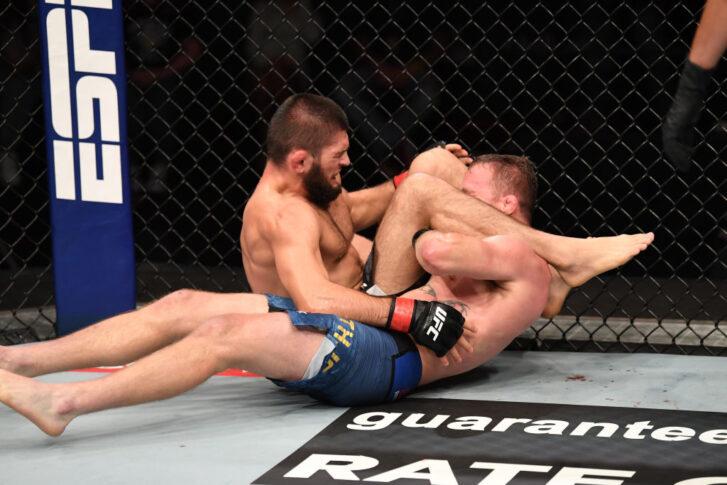 UFC 254:ハビブ・ヌルマゴメドフ vs. ジャスティン・ゲイジー【アラブ首長国連邦・アブダビ/2020年10月25日(Photo by Josh Hedges/Zuffa LLC via Getty Images)】
