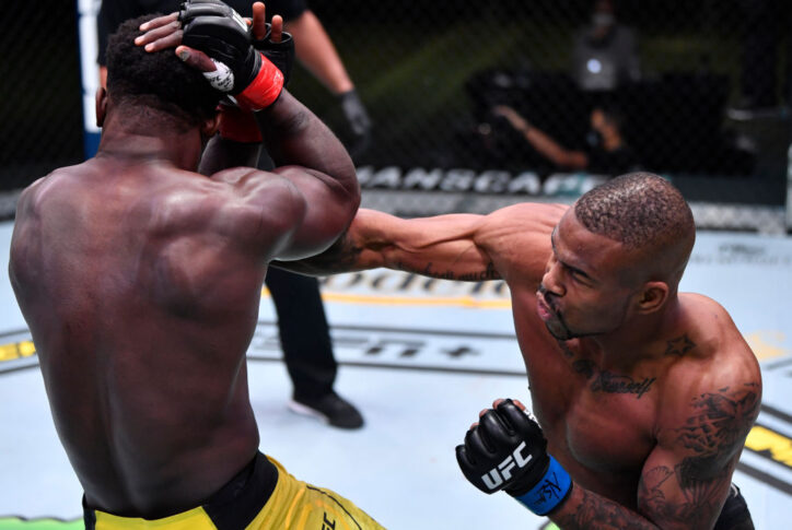 UFCファイトナイト・ラスベガス14:アブドゥル・ラザク・アルハサン vs. ケイオス・ウィリアムズ【アメリカ・ネバダ州ラスベガス/2020年11月14日(Photo by Jeff Bottari/Zuffa LLC)】