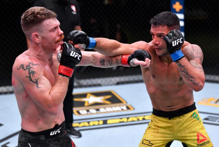 UFCファイトナイト・ラスベガス14:ポール・フェルダー vs. ハファエル・ドス・アンジョス【アメリカ・ネバダ州ラスベガス/2020年11月14日(Photo by Jeff Bottari/Zuffa LLC)】