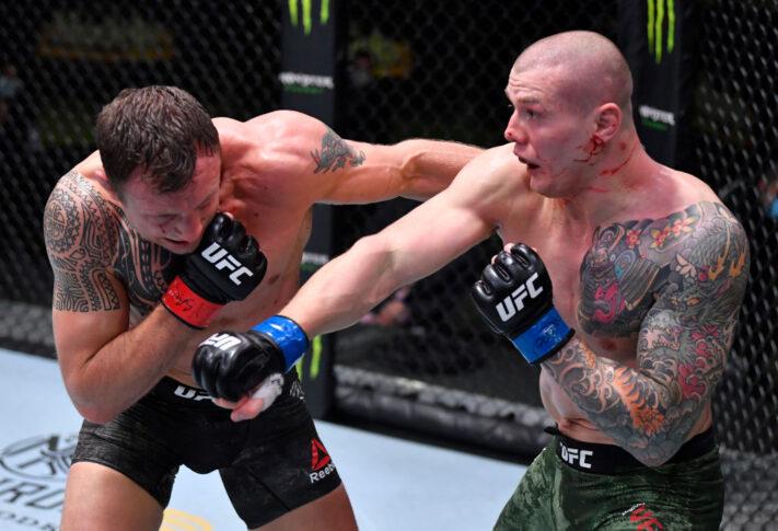 UFCファイトナイト・ラスベガス16:ジャック・ハーマンソン vs. マービン・ヴェットーリ【アメリカ・ネバダ州ラスベガス/2020年12月5日(Photo by Chris Unger/Zuffa LLC)】