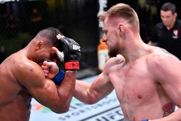 UFCファイトナイト・ラスベガス18:アリスター・オーフレイム vs. アレクサンドル・ボルコフ【アメリカ・ネバダ州ラスベガス/2021年2月6日(Photo by Chris Unger/Zuffa LLC)】