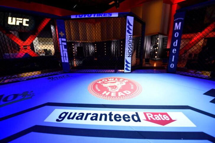 UFC 259:オクタゴン【アメリカ・ネバダ州ラスベガス/2021年3月6日(Photo by Jeff Bottari/Zuffa LLC)】