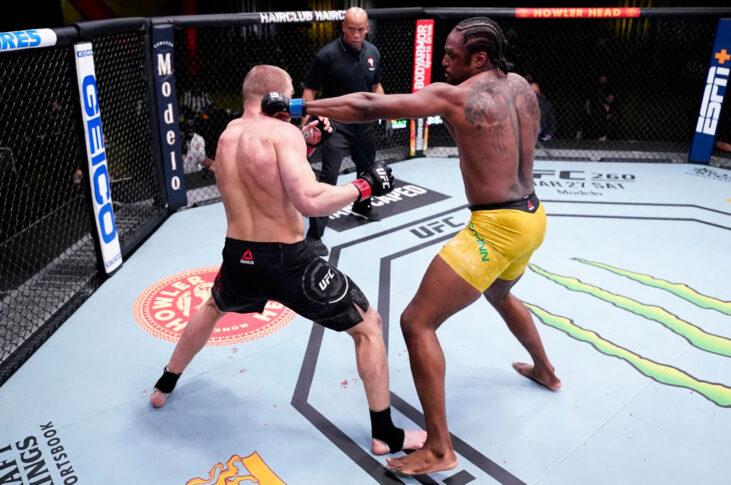 UFCファイトナイト・ラスベガス21:ミシャ・サークノフ vs. ライアン・スパン【アメリカ・ネバダ州ラスベガス/2021年3月13日(Photo by Jeff Bottari/Zuffa LLC via Getty Images)】