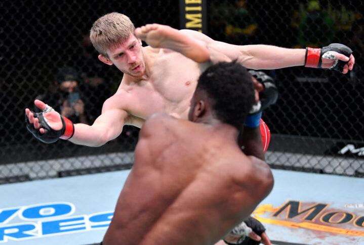 UFCファイトナイト・ラスベガス23:アーノルド・アレン vs. ソディック・ユサフ【アメリカ・ネバダ州ラスベガス/2021年4月10日(Photo by Chris Unger/Zuffa LLC)】