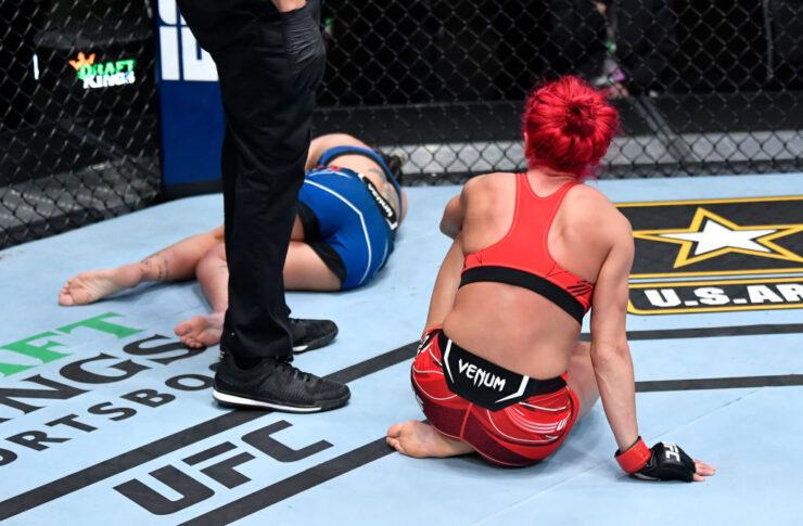 UFCファイトナイト・ラスベガス25:ランダ・マルコス vs. ルアナ・ピニェーロ【アメリカ・ネバダ州ラスベガス/2021年5月1日(Photo by Jeff Bottari/Zuffa LLC)】