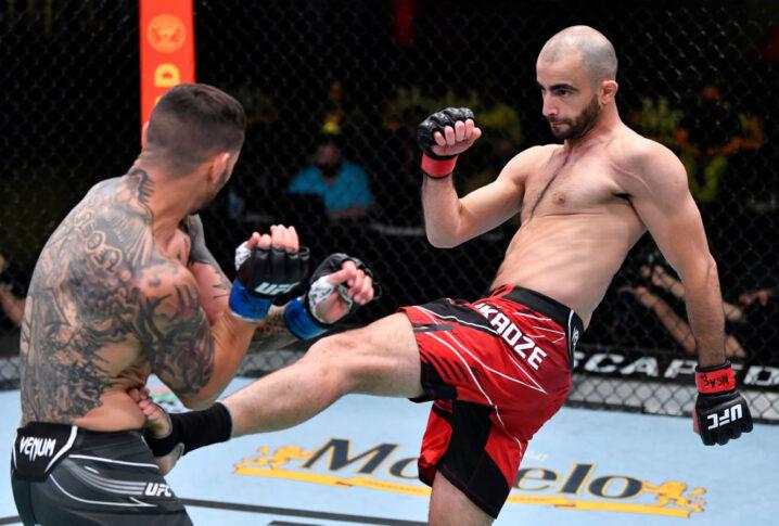 UFCファイトナイト・ラスベガス25:ギガ・チカゼ vs. カブ・スワンソン【アメリカ・ネバダ州ラスベガス/2021年5月1日(Photo by Jeff Bottari/Zuffa LLC)】