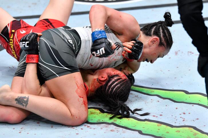 UFCファイトナイト・ラスベガス27:ヤン・シャオナン vs. カーラ・エスパルザ【アメリカ・ネバダ州ラスベガス/2021年5月22日(Photo by Chris Unger/Zuffa LLC)】