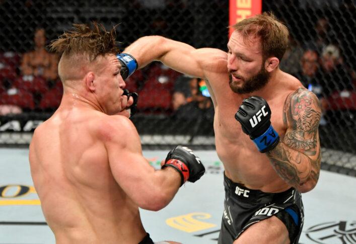 UFC 263:ドリュー・ドーバー vs. ブラッド・リデル【アメリカ・アリゾナ州グレンデール/2021年6月12日(Photo by Jeff Bottari/Zuffa LLC)】