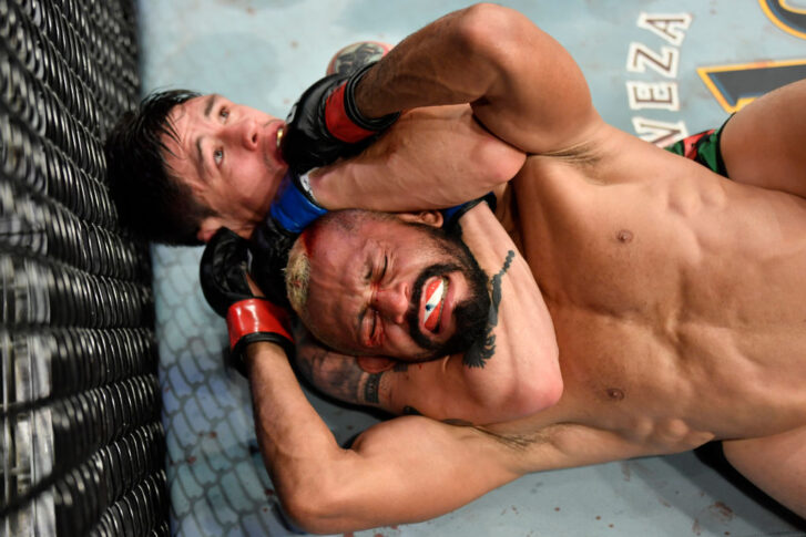 UFC 263:デイブソン・フィゲイレード vs. ブランドン・モレノ【アメリカ・アリゾナ州グレンデール/2021年6月12日(Photo by Jeff Bottari/Zuffa LLC)】