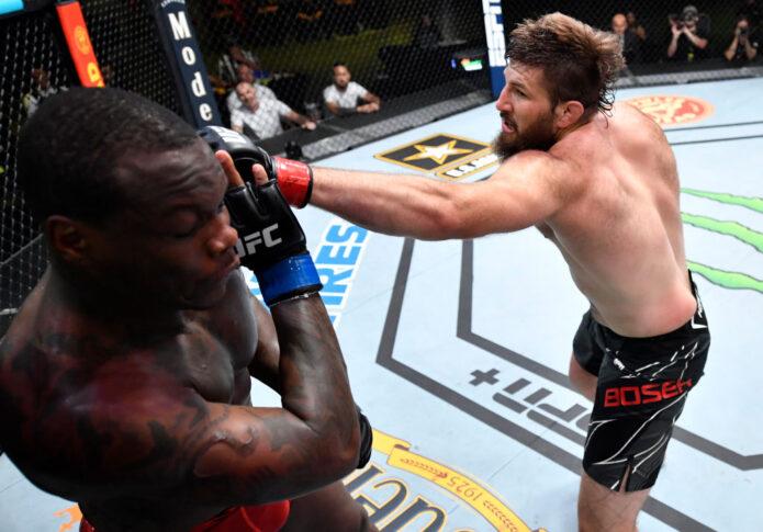 UFCファイトナイト・ラスベガス30:タナー・ボーザー vs. オヴィンス・サン・プルー【アメリカ・ネバダ州ラスベガス/2021年6月26日(Photo by Chris Unger/Zuffa LLC)】
