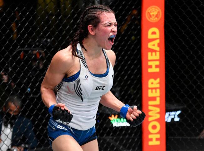 UFCファイトナイト・ラスベガス31:マリオン・レノー vs. ミーシャ・テイト【アメリカ・ネバダ州ラスベガス/2021年7月17日(Photo by Jeff Bottari/Zuffa LLC)】