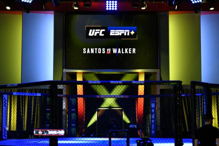 UFCファイトナイト・ラスベガス38:オクタゴン【アメリカ・ネバダ州ラスベガス/2021年10月2日(Photo by Jeff Bottari/Zuffa LLC)】